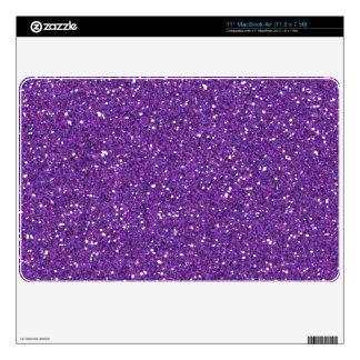 Piel púrpura oscura del aire del mac del brillo MacBook calcomanía
