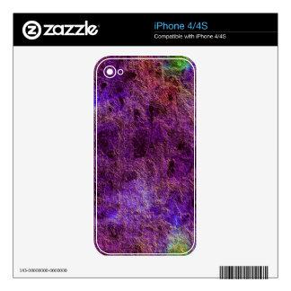 Piel púrpura violeta abstracta colorida del iPhone iPhone 4 Calcomanía