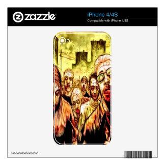 Piel radiactiva del iPhone 4 de los zombis Skins Para eliPhone 4