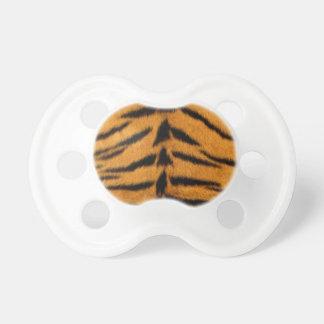 Piel rayada del tigre chupetes