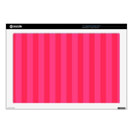 Piel rayada rosada del ordenador portátil skins para 43,2cm portátil