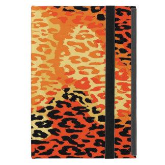 Piel retra 14 del estampado leopardo iPad mini cobertura