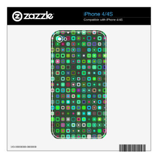 piel retra colorida del iPhone 4/4S iPhone 4 Calcomanías