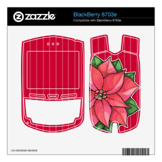 Piel roja de Blackberry 8703e de la alegría del Po Calcomanía Para BlackBerry