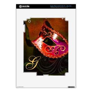 Piel roja de Ipad de la máscara de la mascarada de Pegatina Skin Para iPad 3