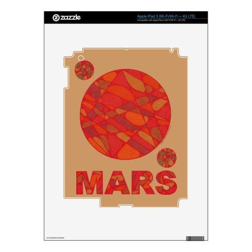Piel roja de la electrónica del arte del planeta iPad 3 pegatinas skins