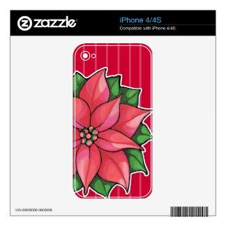 Piel roja del iPhone 4/4S de la alegría del Poinse Calcomanías Para El iPhone 4S