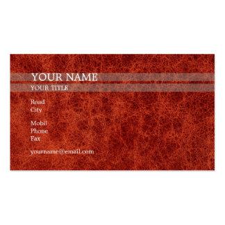 Piel roja el | elegante tarjetas de visita