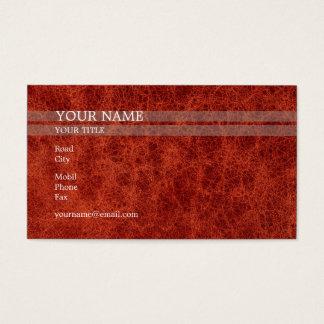 Piel roja el   elegante tarjetas de visita