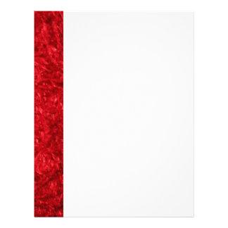 Piel roja elegante membretes personalizados