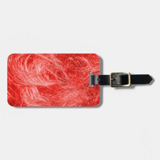 Piel roja etiquetas maleta