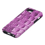 Piel rosada de Croc iPhone 5 Case-Mate Protector