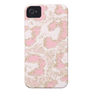 Piel rosada de encargo del leopardo de Africankoko Carcasa Para iPhone 4 De Case-Mate