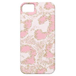 Piel rosada de encargo del leopardo de Africankoko Funda Para iPhone SE/5/5s