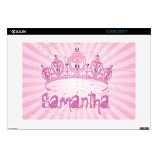 Piel rosada de princesa Crown Tiara Stilletto Comp Calcomanía Para Portátil