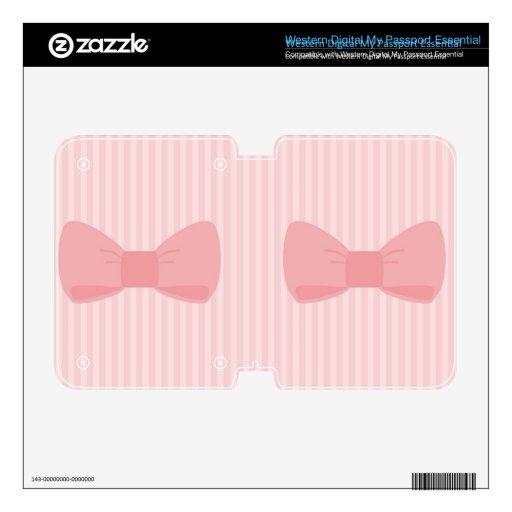 Piel rosada dulce del arco WD my passport skins
