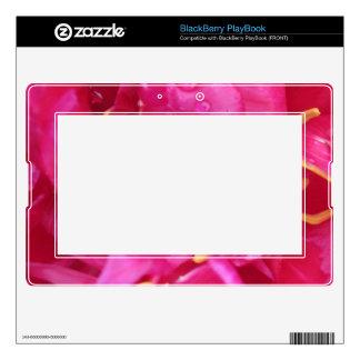 Piel rosada magenta del libro de estrategias de BlackBerry PlayBook skin