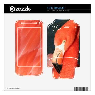 Piel rosada magnífica del deseo S de HTC del flame HTC Desire S Skins