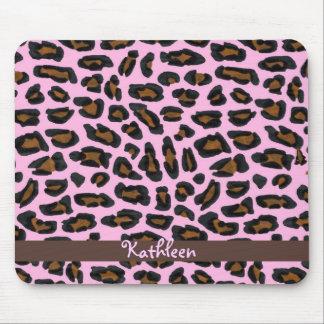 Piel rosada Mousepad femenino del leopardo Tapete De Raton