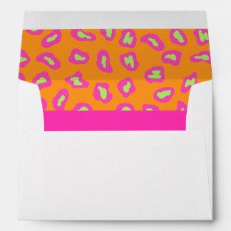 Piel rosada y anaranjada fucsia de la cebra y del sobre