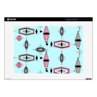 Piel rosada y gris atómica del ordenador portátil portátil 38,1cm skin