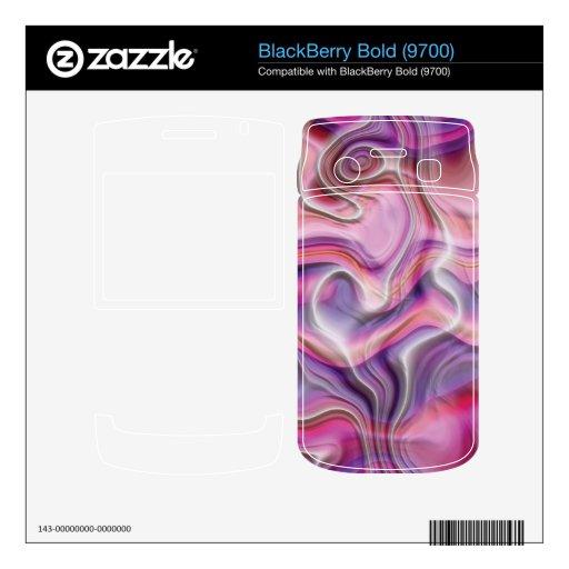 Piel rosada y púrpura abstracta de Zazzle Calcomanía Para BlackBerry Bold