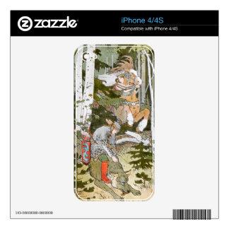 Piel rusa del iPhone del folclore Calcomanías Para El iPhone 4