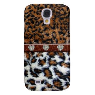 Piel salvaje del leopardo con el caso del iPhone 3