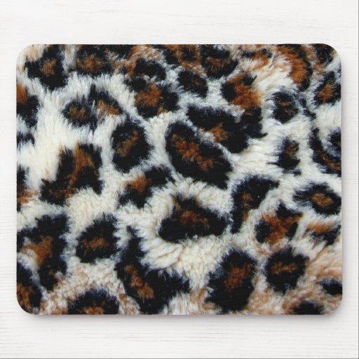 Piel salvaje del leopardo mouse pad