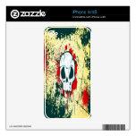 Piel sangrienta del iPhone 4 del cráneo Skins Para iPhone 4