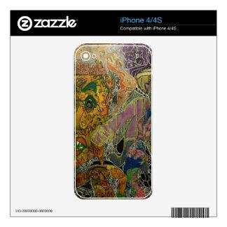 Piel Trippy de los Multi-Medios Calcomanía Para iPhone 4