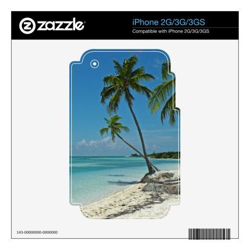 Piel tropical de la etiqueta de la playa iPhone3 iPhone 3GS Calcomanías