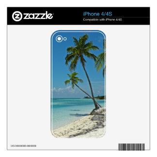 Piel tropical de la etiqueta de la playa iPhone4 Calcomanía Para El iPhone 4