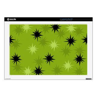 Piel verde atómica del ordenador portátil de portátil 43,2cm skins