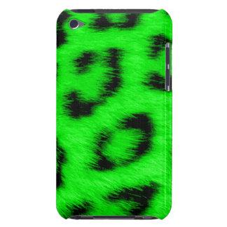 Piel verde de encargo del leopardo del Cheetah/de  iPod Case-Mate Cobertura