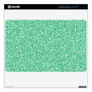 Piel verde del aire del mac de la chispa del brill skins para MacBook air