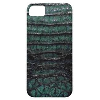 Piel verde del cocodrilo iPhone 5 carcasas