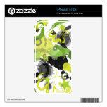 Piel verde del iPhone 4 de la salpicadura Calcomanías Para El iPhone 4