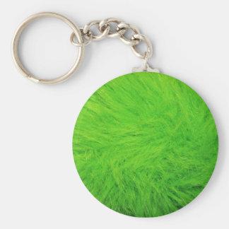 Piel verde llavero redondo tipo pin