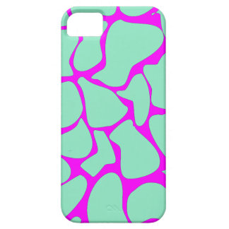 Piel verde y rosada del leopardo iPhone 5 fundas