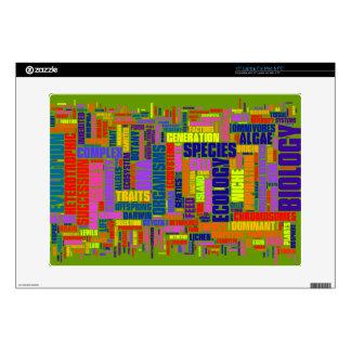 Piel vibrante del ordenador portátil de Wordle de  Calcomanías Para Portátiles