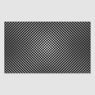 piel vo.1 de la fibra de carbono rectangular pegatinas