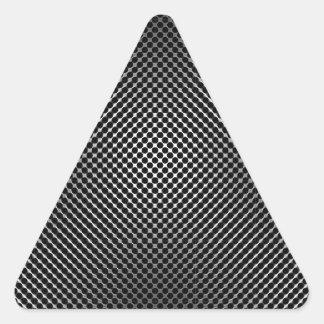 piel vo.1 de la fibra de carbono colcomanias triangulo