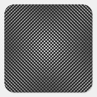 piel vo.1 de la fibra de carbono calcomanía cuadradas personalizadas