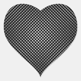 piel vo.1 de la fibra de carbono pegatina corazon