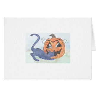 Piel y búsqueda de Halloween Tarjeta Pequeña