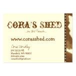 piel y clavos, la vertiente de Cora,… en el rancho Tarjeta De Visita
