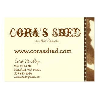 piel y clavos, la vertiente de Cora,… en el rancho Tarjetas De Visita Grandes