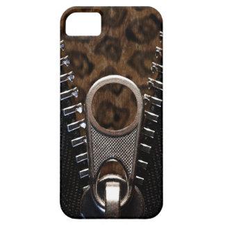 Piel Zippered del estampado leopardo