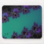 Pieles abstractas púrpuras del fractal del trullo  tapetes de raton